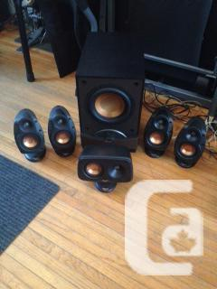 Klipsch 5.1 theatre 6 with RW-8 Subscription.