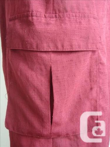 Knee Length Skirt - Burgundy
