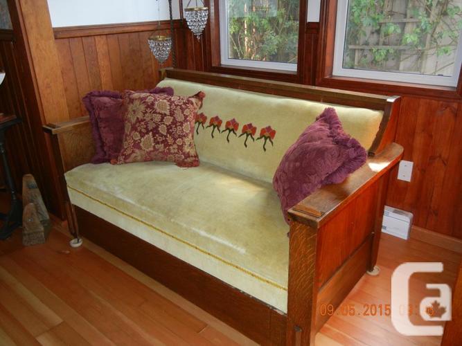 Kroehler Mission Oak Davenport Bed 1915 For Sale In