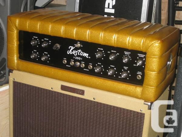 Kustom K200B vintage bass amp, gold Tuck and Roll cover