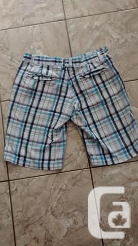 Ladies Blue Plaid Shorts - Size 8