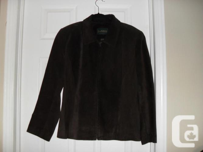Ladies Brown Suede Danier Jacket - Large