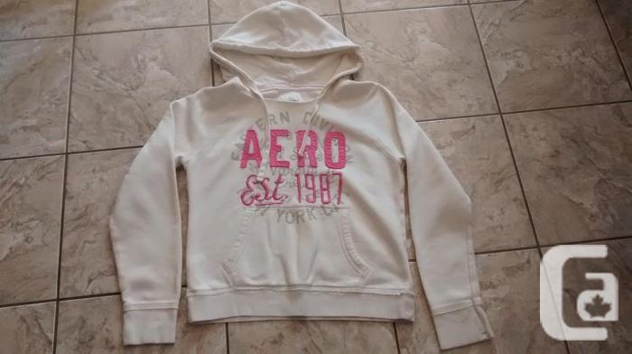 Ladies Ivory Aeropostale Hoodie - Size XL
