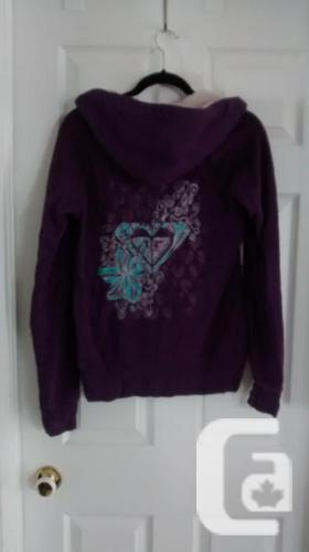 Ladies Purple ROXY Hoodie - Size Medium