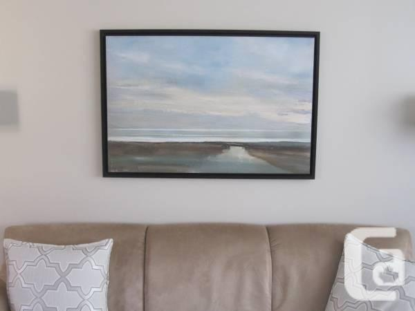 Landscape Painting of Horizon (Aqua and brown) - $80