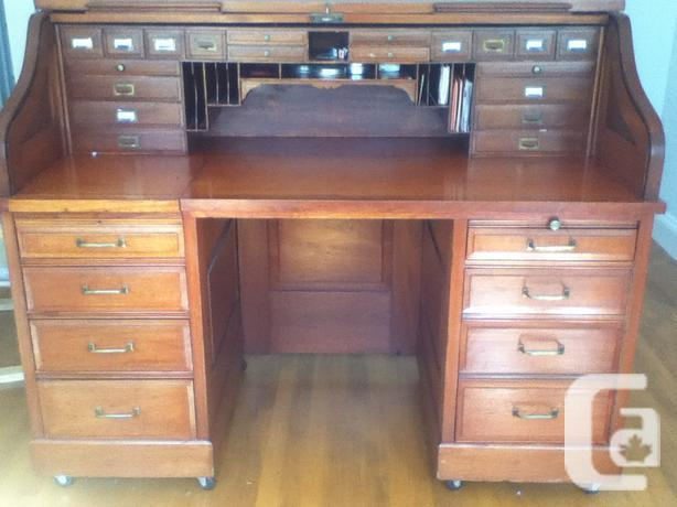 Large antique roll top desk - Large Antique Roll Top Desk For Sale In Newington, Ontario