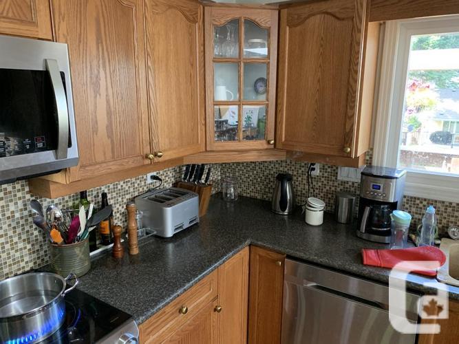 Large oak kitchen