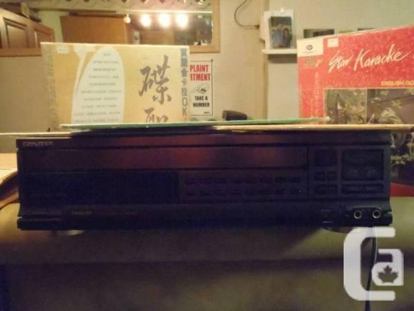 Laser Disc Karaoke Machine - $125