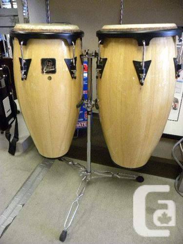 latin percussion aspire conga drum set with stand for sale in victoria british columbia. Black Bedroom Furniture Sets. Home Design Ideas