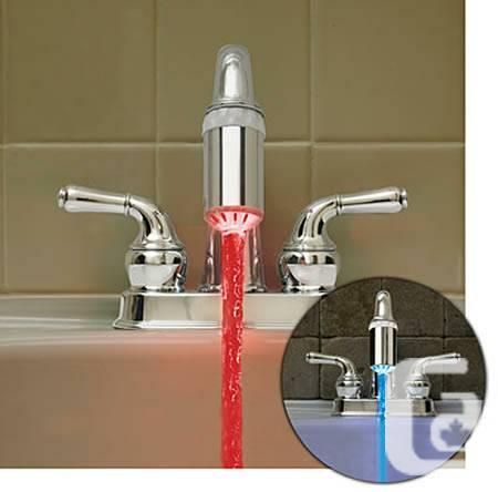 LED Faucet Light - Red / Blue / Green - $20