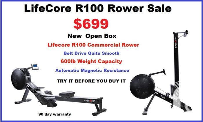 Lifecore R100 Commercial Or Home Rower,Rowing
