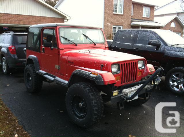 Jeep Wrangler For Sale Ontario >> Lifted Jeep Yj Sell Or Trade In Stittsville Ontario For Sale