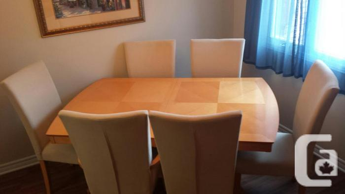 Light color wood dining table for sale in ramsayville