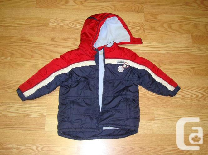 Like New Size 3 Toddler Winter Fleece Lined Coat - $5