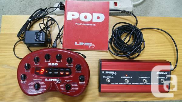 Line 6 POD v2 0 Guitar Multi Effects Processor w FBV Foot Pedal - $150 in  Toronto, Ontario for sale