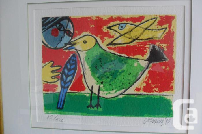 "Lithograph Corneille ""L'Oiseau Vert"""
