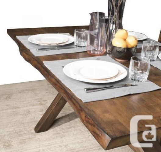 Live Edge Design Dining Set - Solid Hardwood - Brand