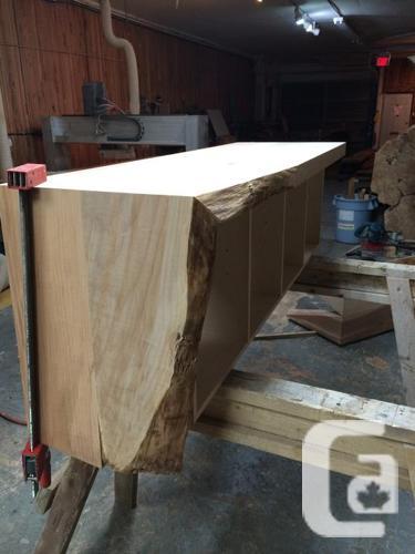 Live-Edge Maple Bench