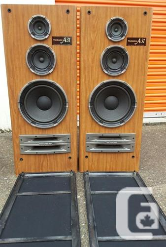 LOUD Vintage Technics SB – A31… 3 Way Speakers   Twin Load Horn System…  200w ! in Victoria, British Columbia for sale