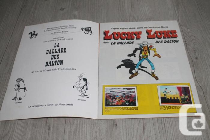 Lucky Luke stickers magazine
