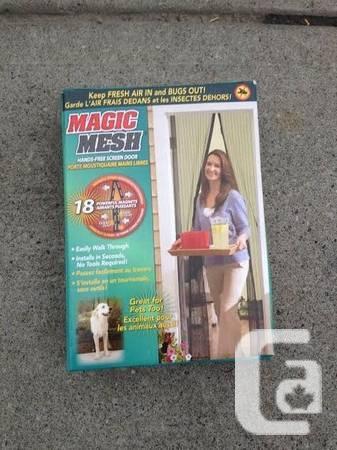 Magic Mesh door address - New - Never employed - $10