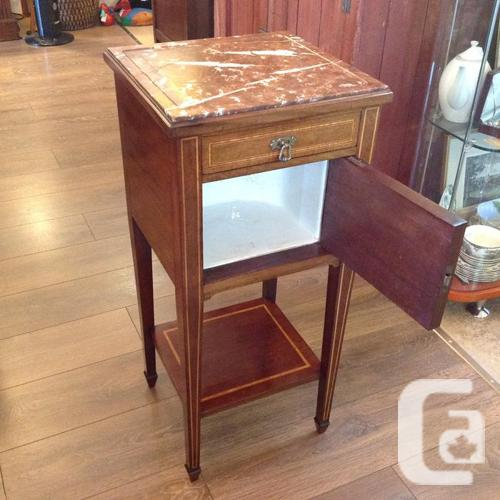 Marble Top Coffee Table Canada: Marble Top Commode Side Table For Sale In Ladysmith