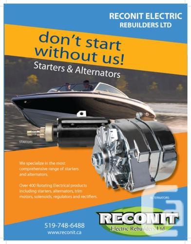 Marine Power Trim, Starter And Alternator - NEW,