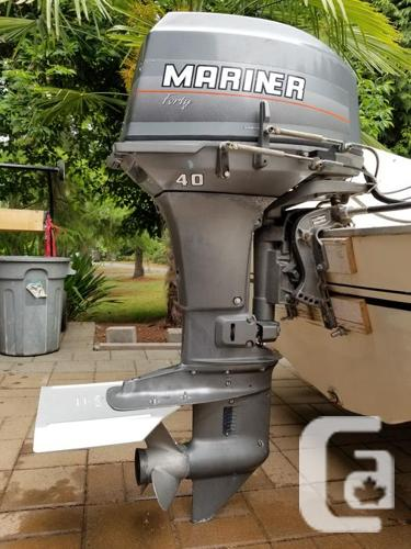 MARINER 40hp OUTBOARD ENGINE by Yamaha/Mercury in Victoria, British  Columbia for sale