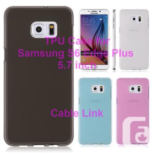 Matte Soft TPU Gel Case for Samsung Galaxy S6 Edge Plus