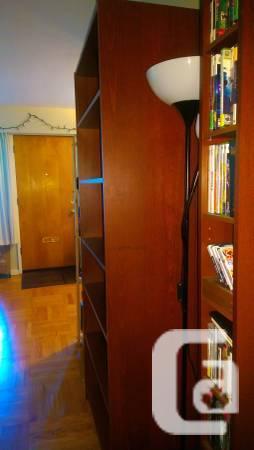 Medium-Brown IKEA Billy Bookcase