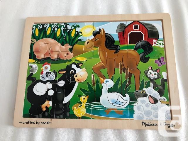 Melissa and Doug - Wooden Puzzles and Stringing Set of
