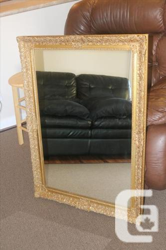 Mirror frame - antique - golden
