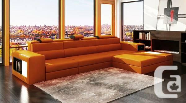 Moder Leather Sectional Sofa furniture in2condo.com