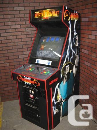 mortal kombat 2 arcade machine for sale in montreal quebec