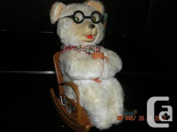 Mother Bear Knitting In Rocking Chair Toy For Sale In