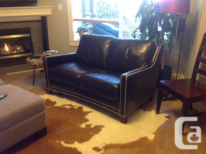 Muse merchant leather sofa and loveseat for sale in for Couch sofa for sale bc