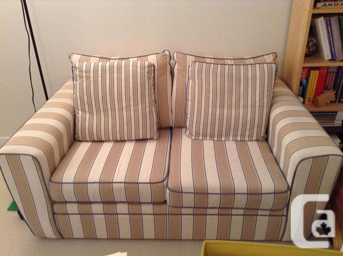 Neutral, comfy sofa, love seat and chair