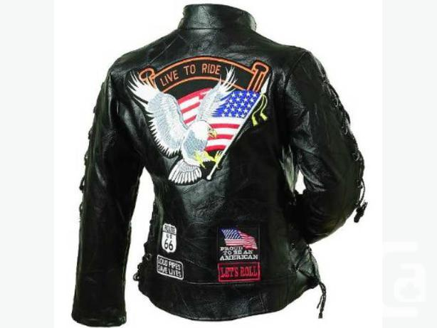 New 100% Genuine Buffalo Leather  Ladies Motorcycle