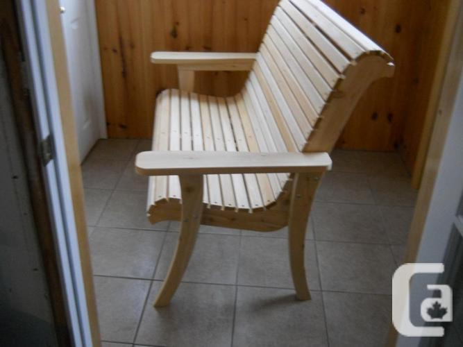 New Cedar Garden Chairs and benches