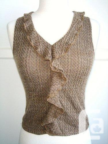 New Channel - Brown Black Knitted Tank Top / Sleeveless
