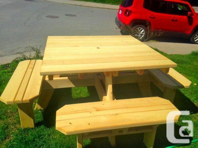 New Comercial Cedar Picnic Tables