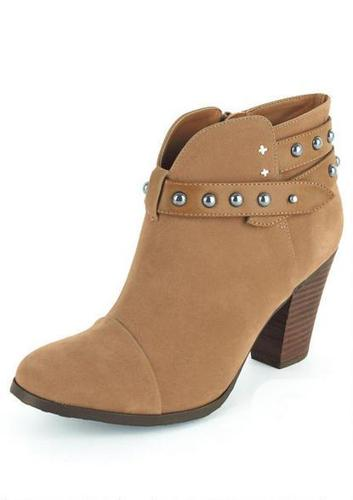 NEW Dollhouse Live Studded Ankle Strap Boot Bootie -