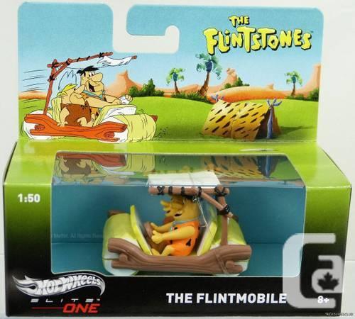 NEW HOT WHEELS ELITE 1:50 FLINTSTONES FLINTMOBILE! -