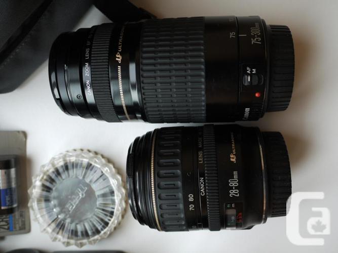 NEW PRICE Canon EOS ELAN 35mm SLR Camera & Lenses