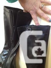 NEW Size 6.5 Black Pleather Long Boots