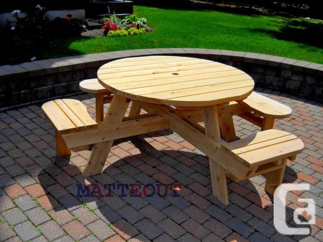 New Square Cedar Picnic Table