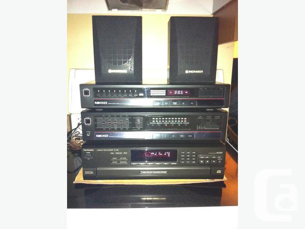 Nikko stereo tuner/Nikko Integrated Amp./Technics CD