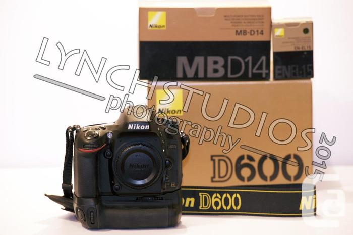 Nikon D600, MB-D14 Grip, ENEL-15 battery, WU-1b