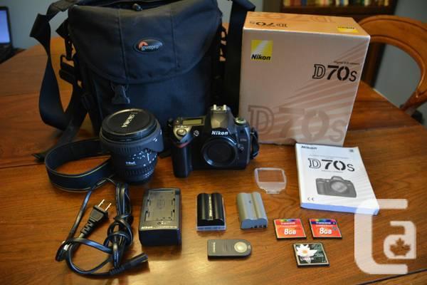 Nikon D70s Digital SLR, Sigma 17-35 lens, Lowepro Bag