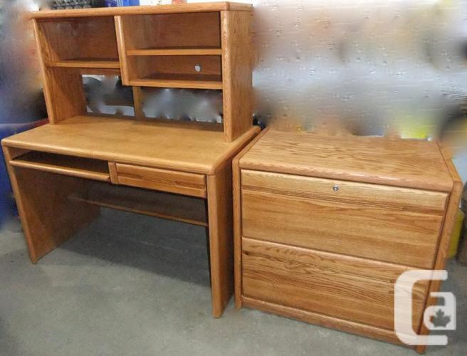 Oak Computer Desk & amp Cabinet $350.